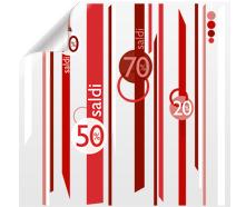 Set adesivo promozionale STRIPES | tictac.it