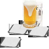 Sottobicchiere quadrato personalizzabile in PVC | tictac.it