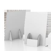 Porta volantini in cartone con tasca centrale - Basic A4 | tictac.it