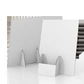Espositore volantini in cartone con tasca portadepliant a sinistra - Basic A4 | tictac.it