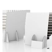 Espositore volantini in cartone con tasca portadepliant a destra - Basic A4 | tictac.it