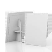 Display vetrina monofacciale in cartone A3 verticale | tictac.it