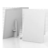 Display vetrina monofacciale in cartone h70 cm | tictac.it