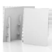 Display vetrina monofacciale in cartone h98 cm | tictac.it