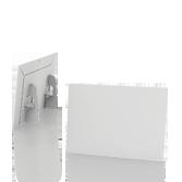 Display vetrina monofacciale in cartone A4 orizzontale | tictac.it