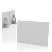 Display vetrina monofacciale in cartone A3 orizzontale | tictac.it