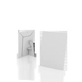 Display vetrina monofacciale in cartone A5 verticale | tictac.it