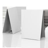 Display bifacciale in cartone h410 mm | tictac.it