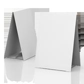 Display bifacciale in cartone h590 mm | tictac.it
