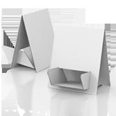 Porta volantini in cartone ondabassa h400 mm - Mela | tictac.it