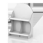 Portaprodotti da banco con 2 ripiani - Cedro 1 | tictac.it