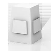 Distributore volantini con 4 tasche porta volantini h550 mm - Fragola | tictac.it