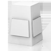 Distributore volantini con 4 tasche porta volantini h670 mm - Fragola | tictac.it
