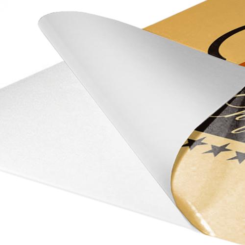 In carta adesiva bianca non patinata | tictac.it