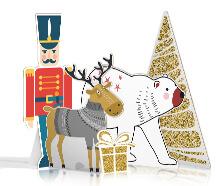 Sagome prestampate in cartone a tema natalizio | tictac.it