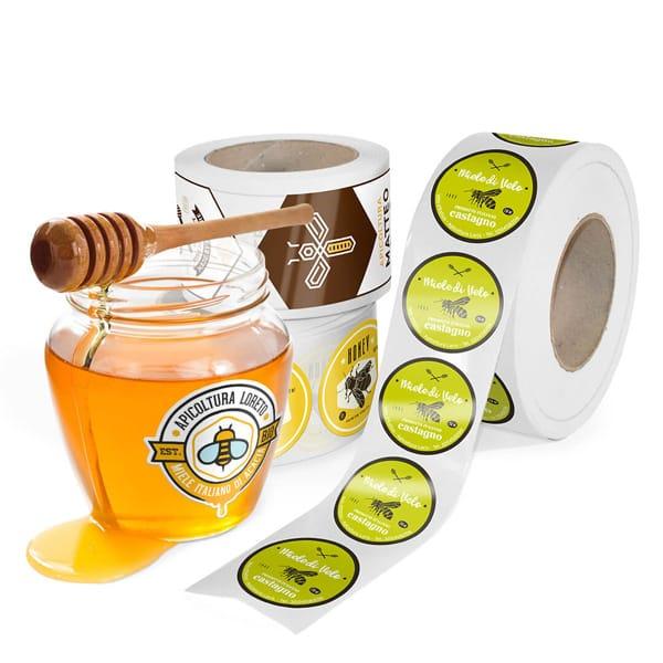 Etichette adesive per vasetti di miele | tictac.it