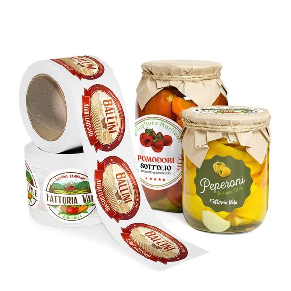 Etichette adesive per vasetti | tictac.it