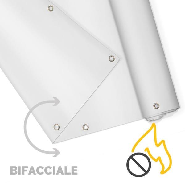 Striscione bifacciale ignifugo personalizzabile | tictac.it