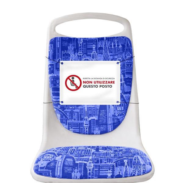 Segnaposto da sedile per divieto di sedersi in PVC | tictac.it