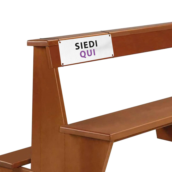 Segnaposto da sedile per divieto di sedersi in TNT | tictac.it