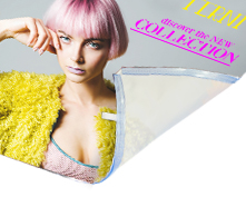 Tessuto ignifugo per lightbox con colori fluo con grafica personalizzata   tictac.it