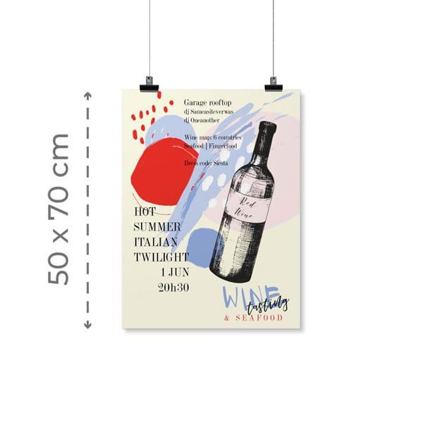 Locandine 50x70 cm con grafica personalizzata   tictac.it