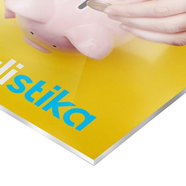 Plexiglass® opalino 5 mm con grafica personalizzata | tictac.it