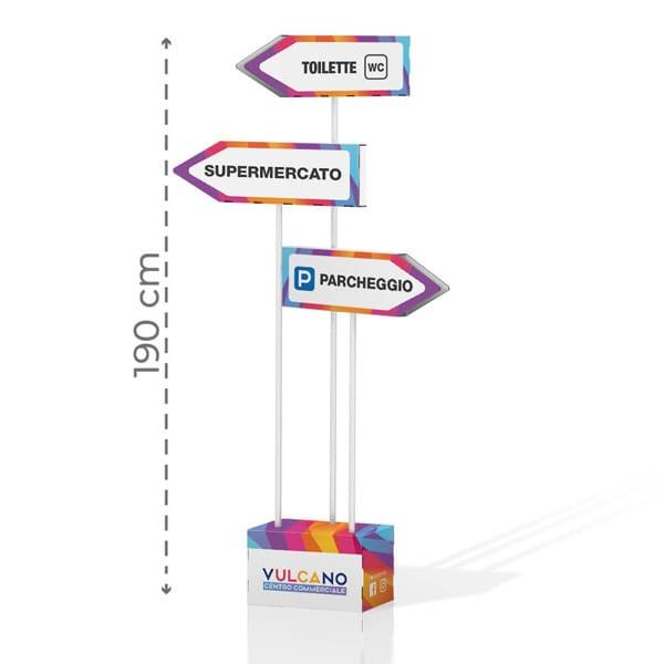 Cartello direzionale con grafica personalizzata   tictac.it