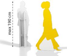 Sagomato in cartone h190 PERSONALIZZABILE con grafica personalizzata | tictac.it