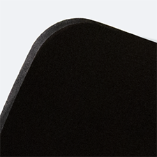 Display PVC A4 orizzontale nero (con bianco retrostampa)