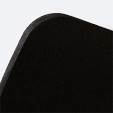Display PVC doppio A4 verticale nero (con bianco retrostampa)