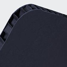 Divisorio in Nidoboard nero 16 mm con finestra
