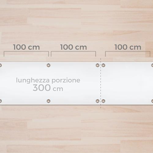 Occhielli a misura su 300cm