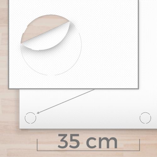 Occhielli INVISIBILI ogni 35cm sopra e sotto