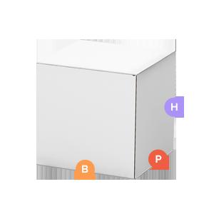 Base(B), Profondità(P), Altezza(H)