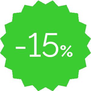 Promo -15% verde
