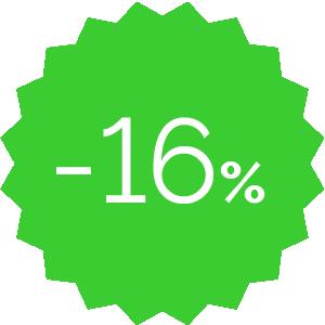 Promo -16% verde