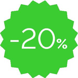 Promo -20% verde