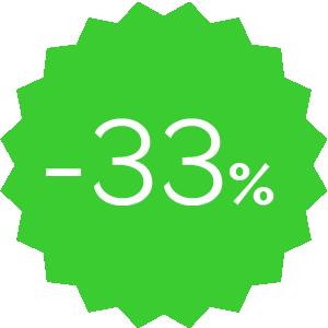 Promo -33% verde