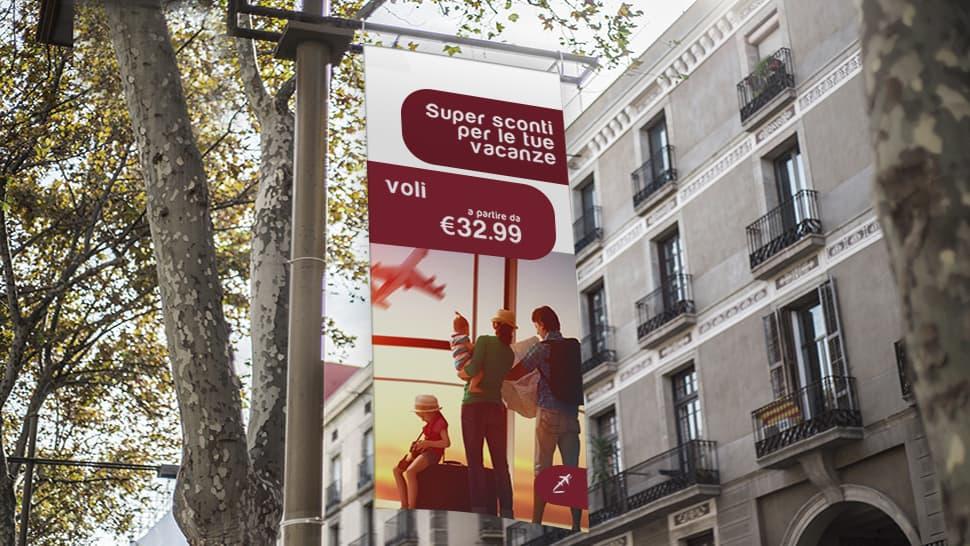 Striscione pubblicitario | tictac.it