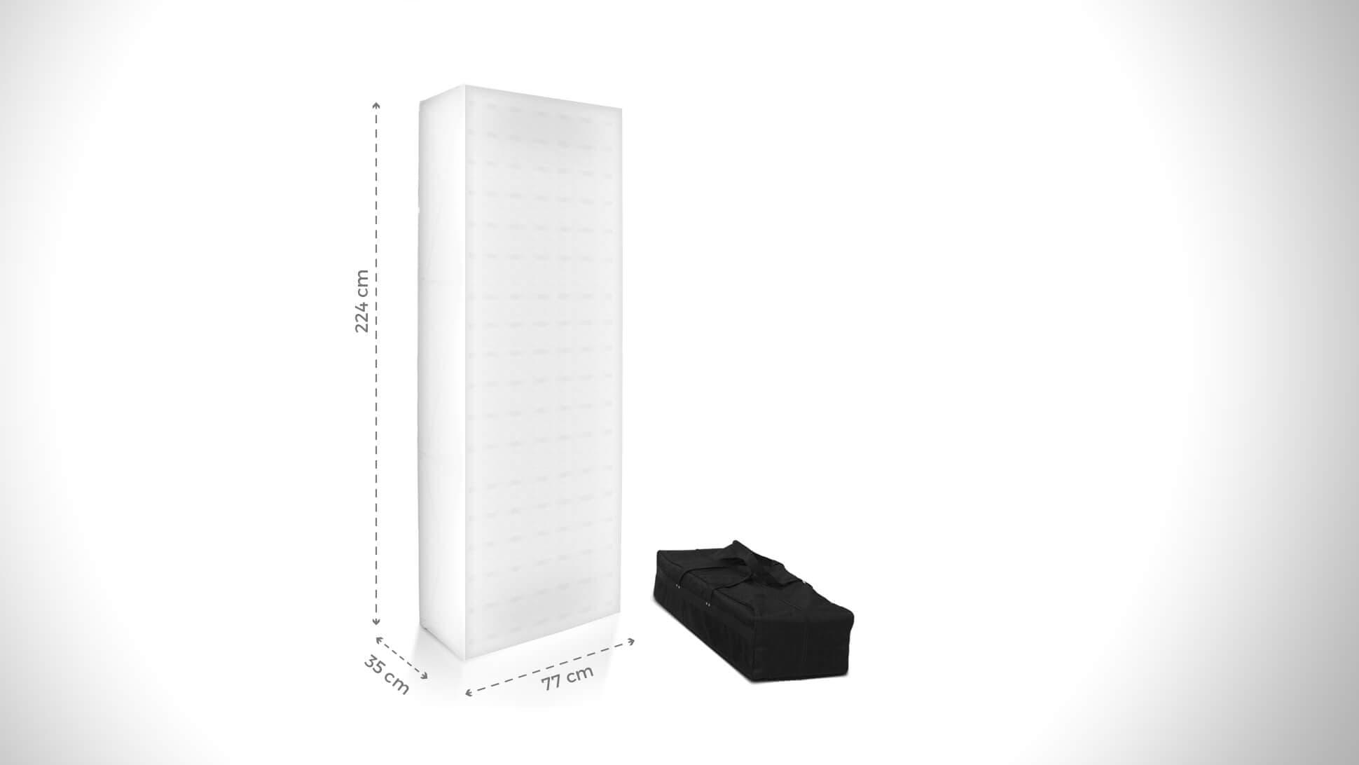 Totem promozionale personalizzabile 224x77 cm con borsone   tictac.it