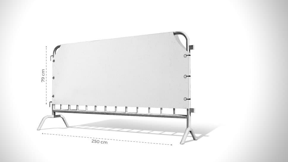 Copritransenna bianco 79cmx250 cm | tictac.it