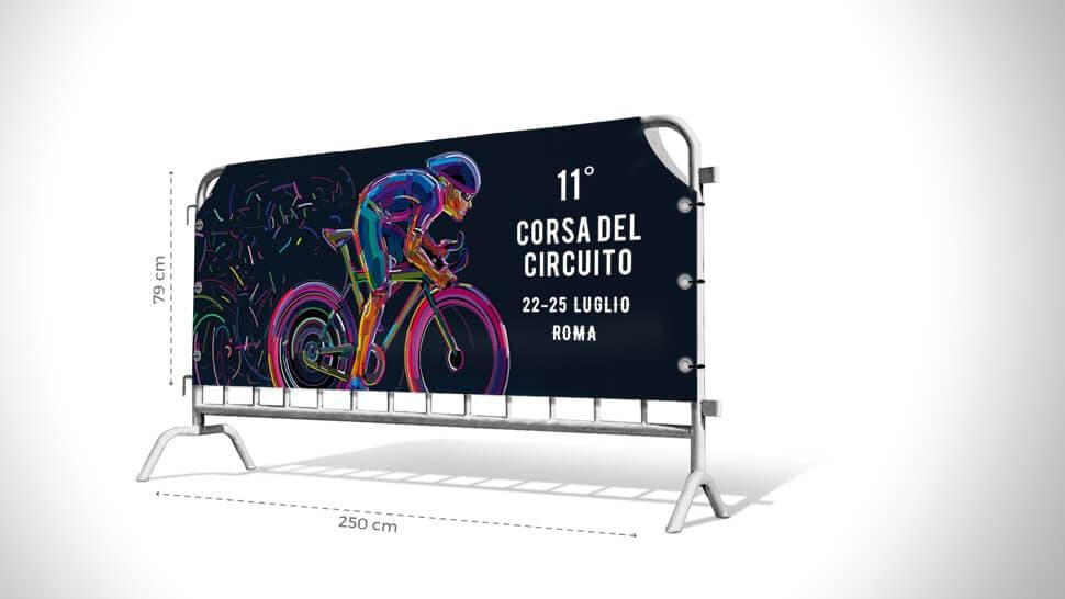 Copritransenna personalizzato 79cmx250 cm | tictac.it