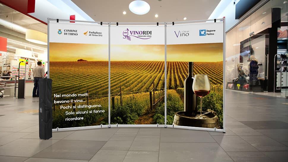 Parete espositiva per eventi vinicoli | tictac.it