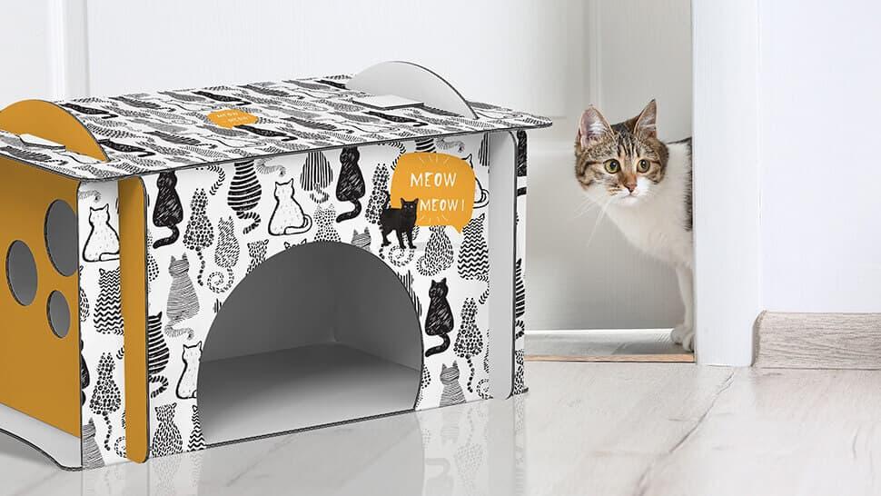 Casetta per gatti in cartone | tictac.it
