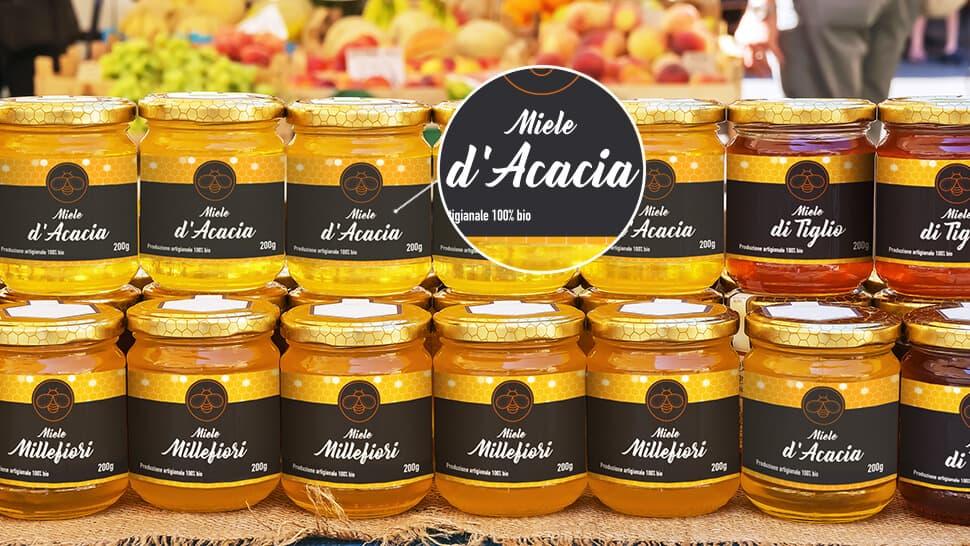 Etichette per barattoli di miele | tictac.it