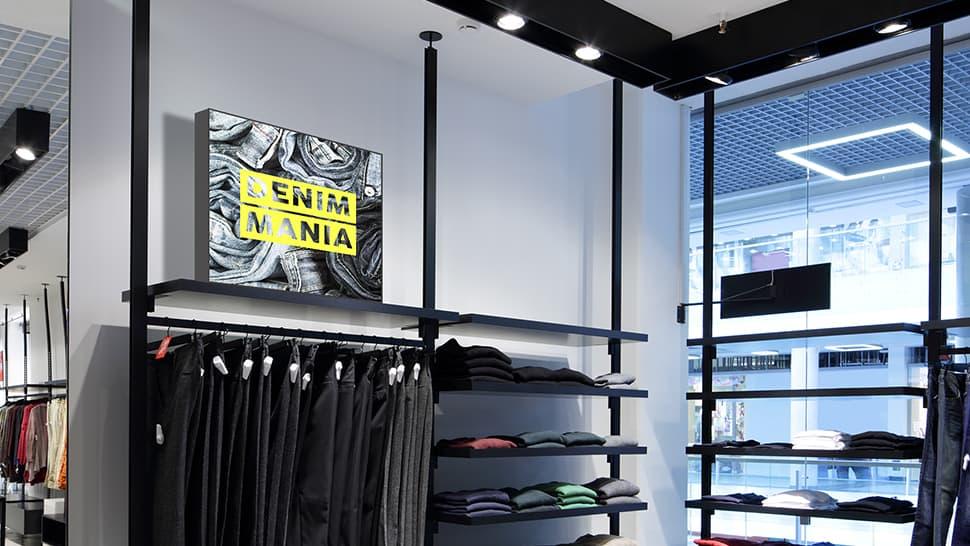 Tessuto retro illuminato per negozi | tictac.it