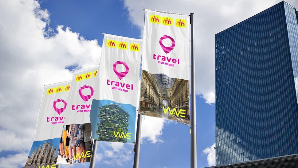 Bandiere promozionali a vela | tictac.it