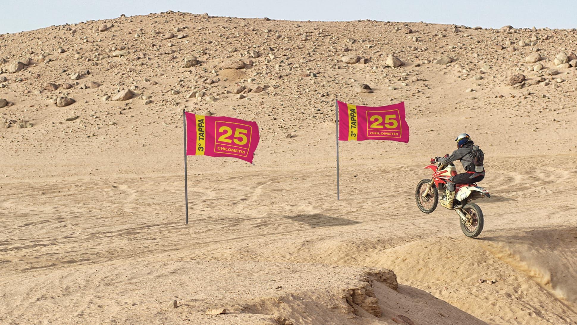 Bandiere fluo per eventi sportivi | tictac.it
