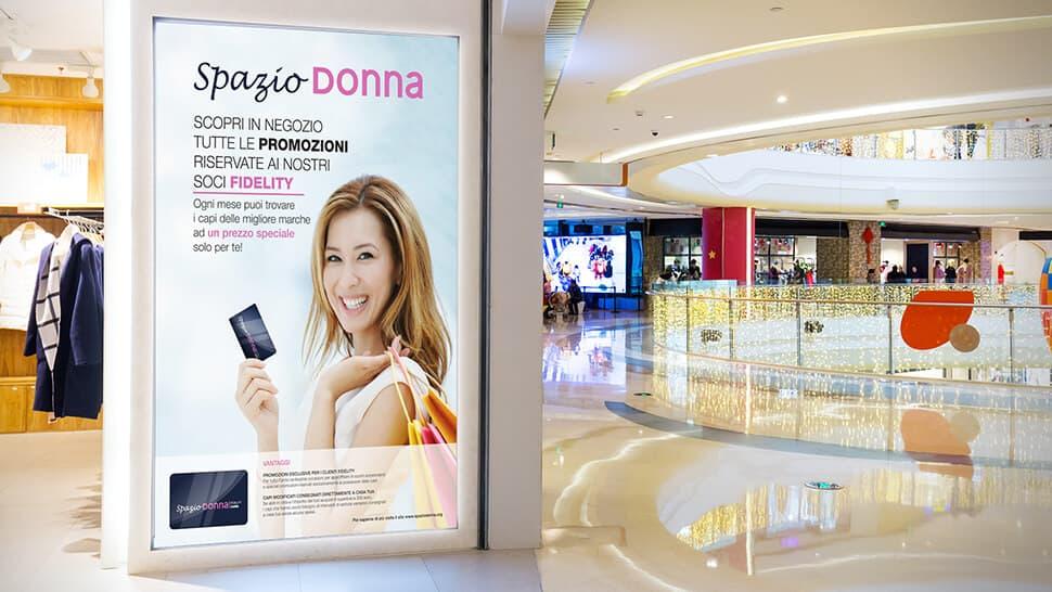 Manifesto promozionale per centri commerciali | tictac.it